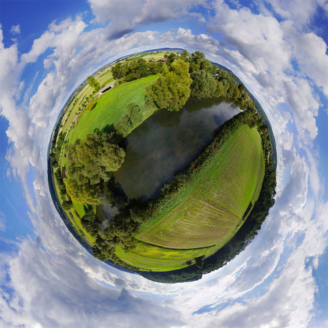 Little Planet Kugelpanorama Wolfshausen