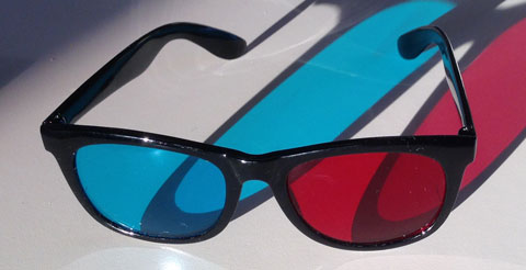 3D-Brille rot/cyan