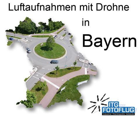 Luftaufnahmen mit Drohne in Bayern