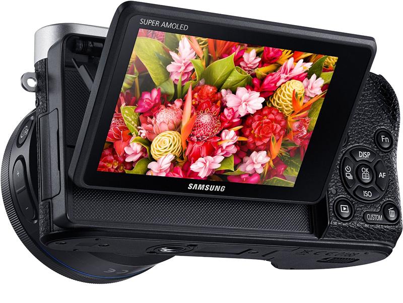 Rückseite der Samsung NX500