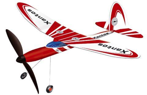 Günther Gummimotor Flugzeug Xantos für Kinder