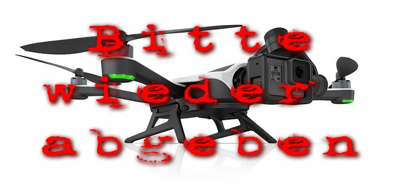 rueckruf gopro karma drohne drone recall zurückgeben details hotline