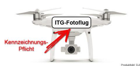 Kennzeichnungspflicht für Drohnen: Kennzeichen für die Drohne ab 250 Gramm Fluggewicht ist ab 1. April 2017 Pflicht!