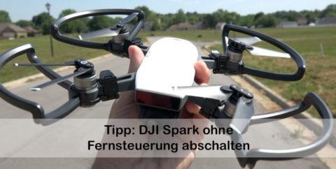Geheimtipp für die Praxis: die DJI Spark kann man durch Kippen per Hand ausschalten (Foto: DJI.com).