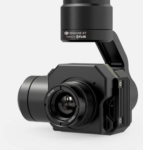 FLIR Infrarotkamera an DJI Drohnen – mit dem XT Gimbal möglich (Fotos: DJI.com).